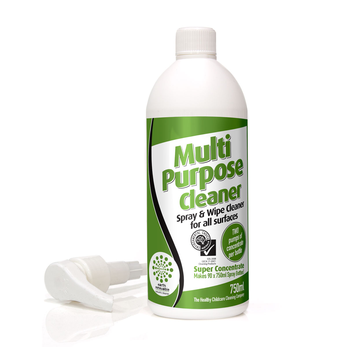 Earth Renewable Multi Purpose Spray and Wipe Cleaner by Solo Pak