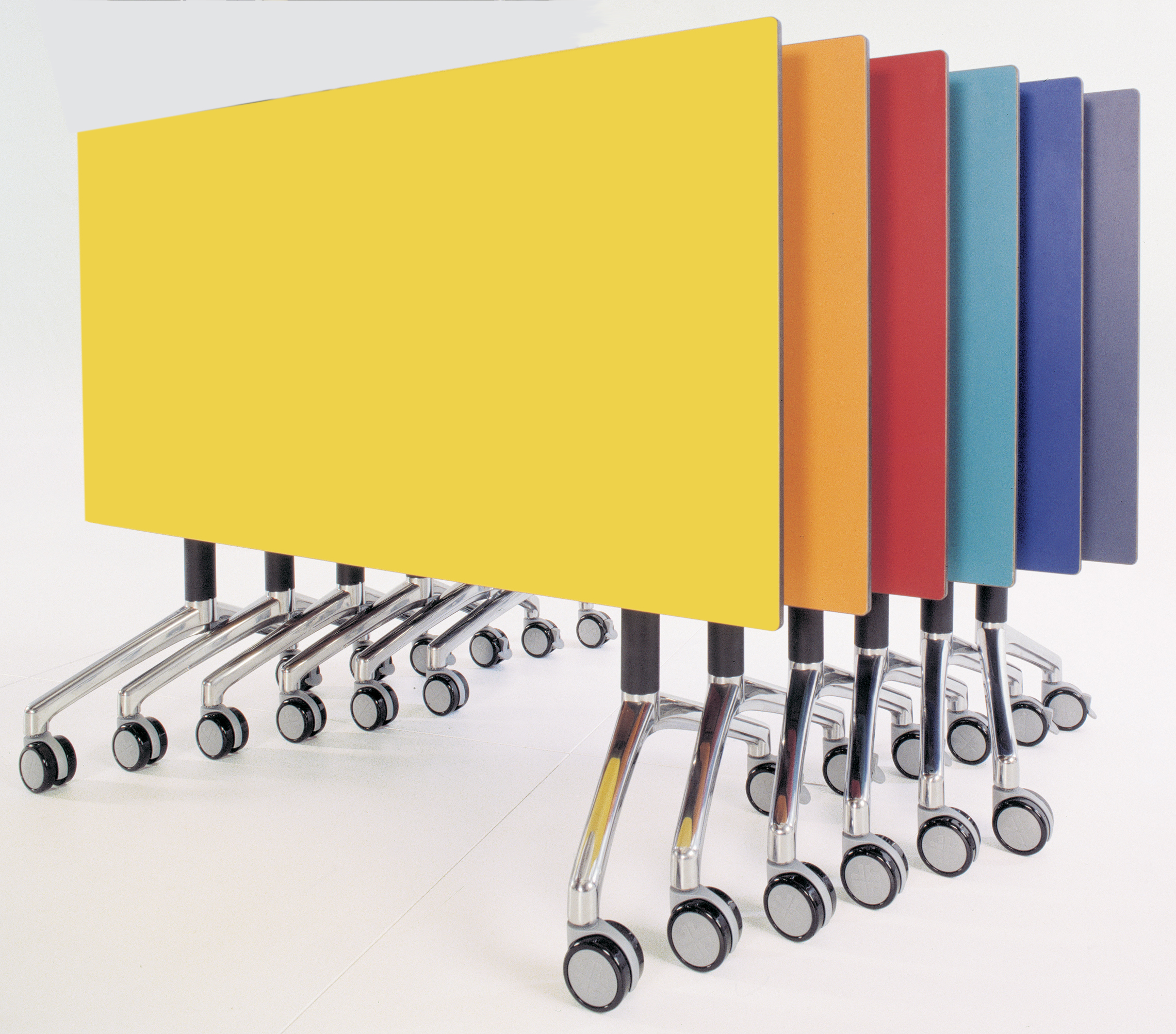 Flexi Tables in various colours by Direct Ergonomics