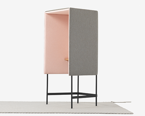 Cabin Free-Standing Phone Booth from District