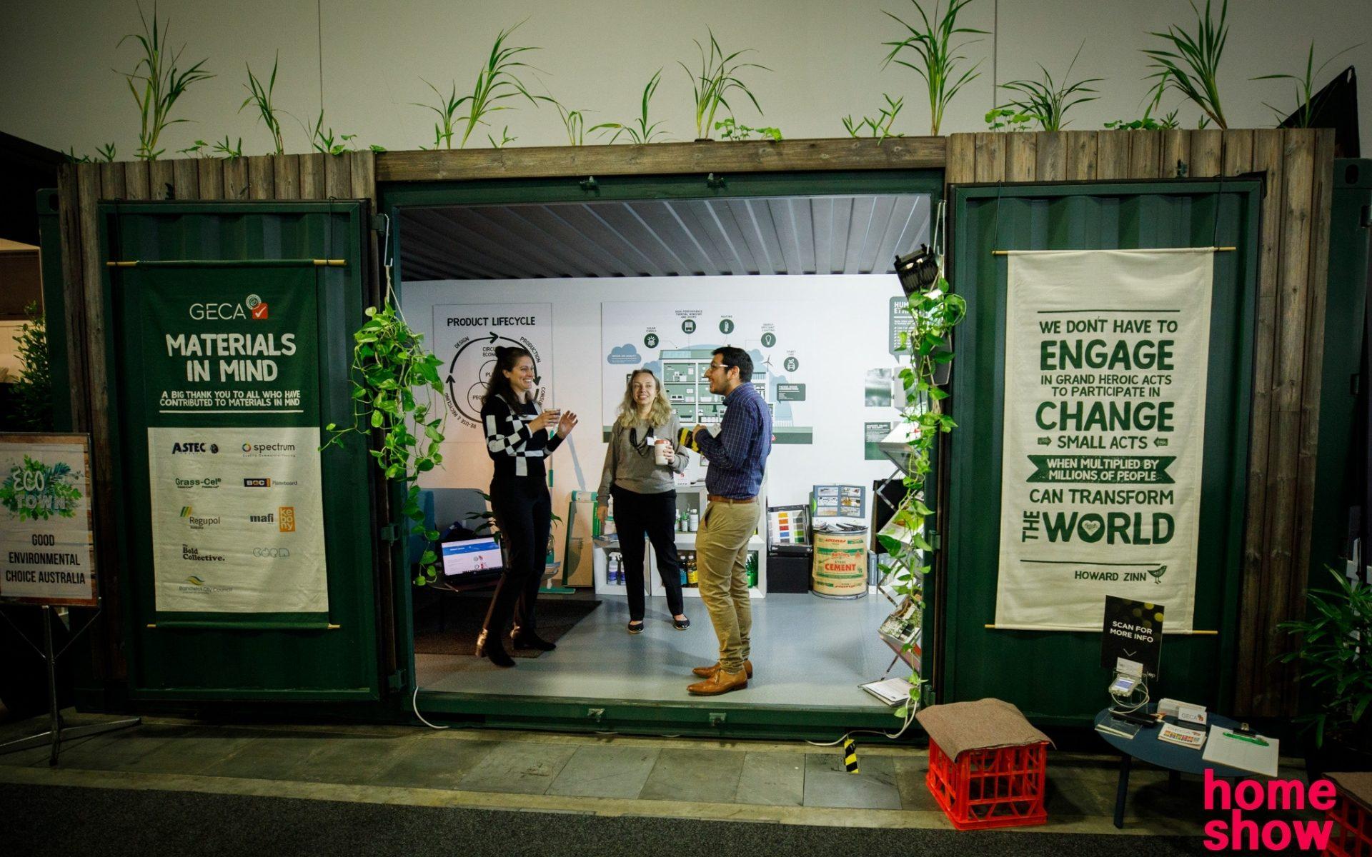 Team GECA at Sydney Home Show's Eco Town