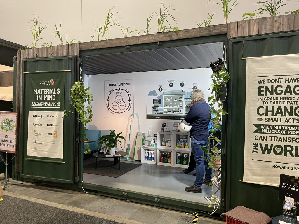 GECA's Materials in Mind Pod at the Sydney Home Show